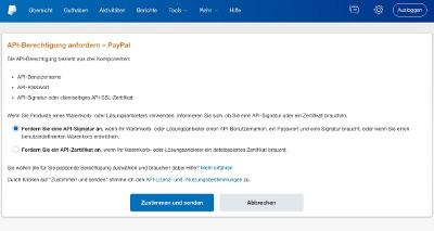 PayPal API-Berechtigung