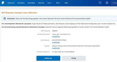 PayPal API-Signature