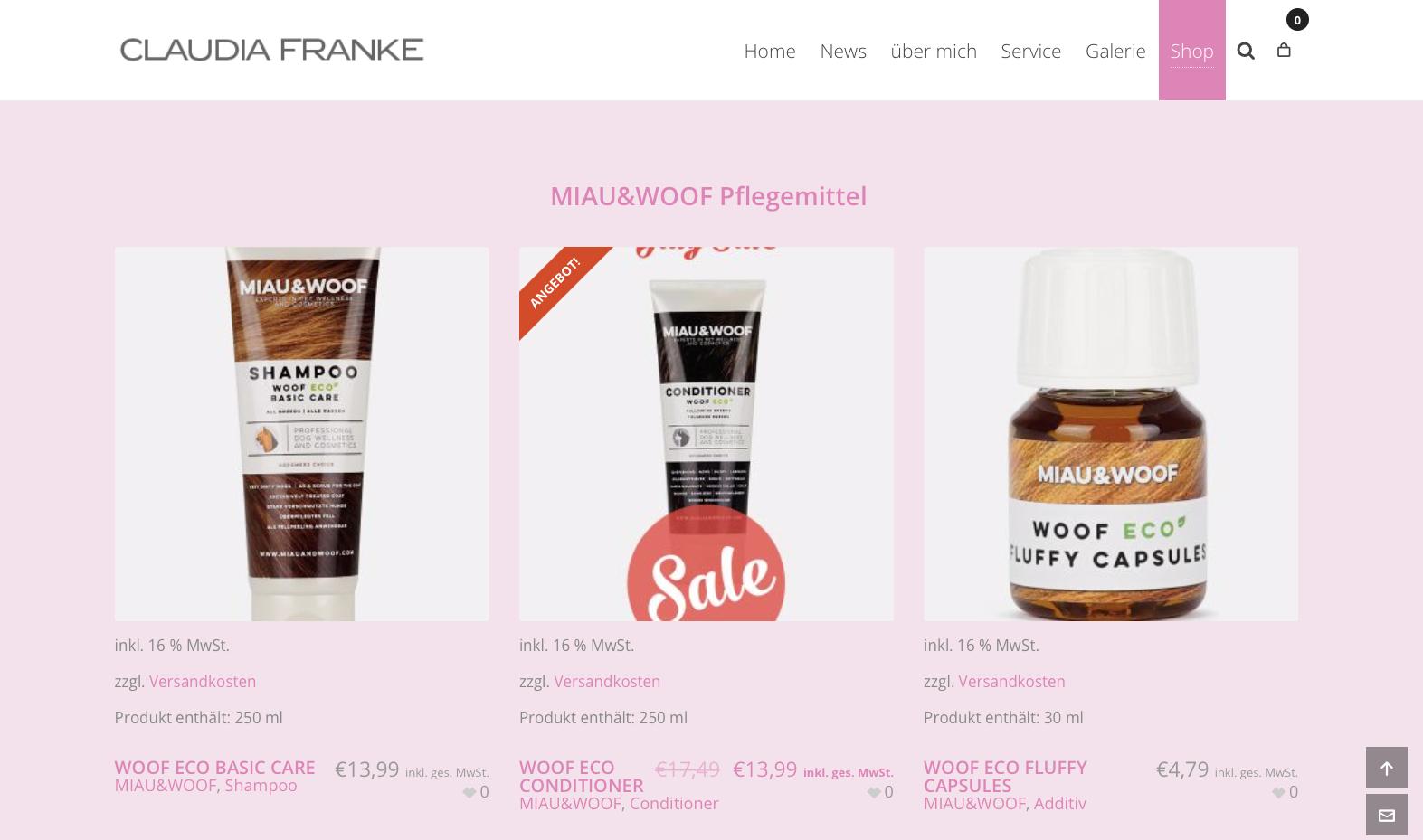 Miau&Woof Claudia Franke Onlineshop