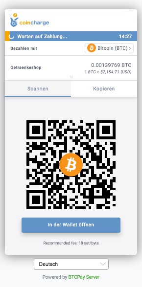 Bitcoin Payment page