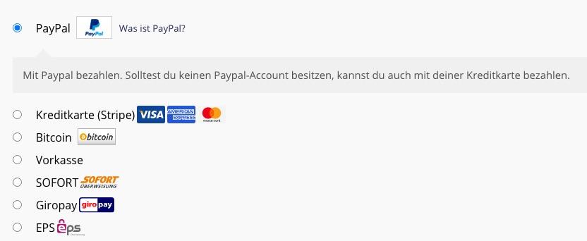 Onlineshop24 mit Paypal bezahlen