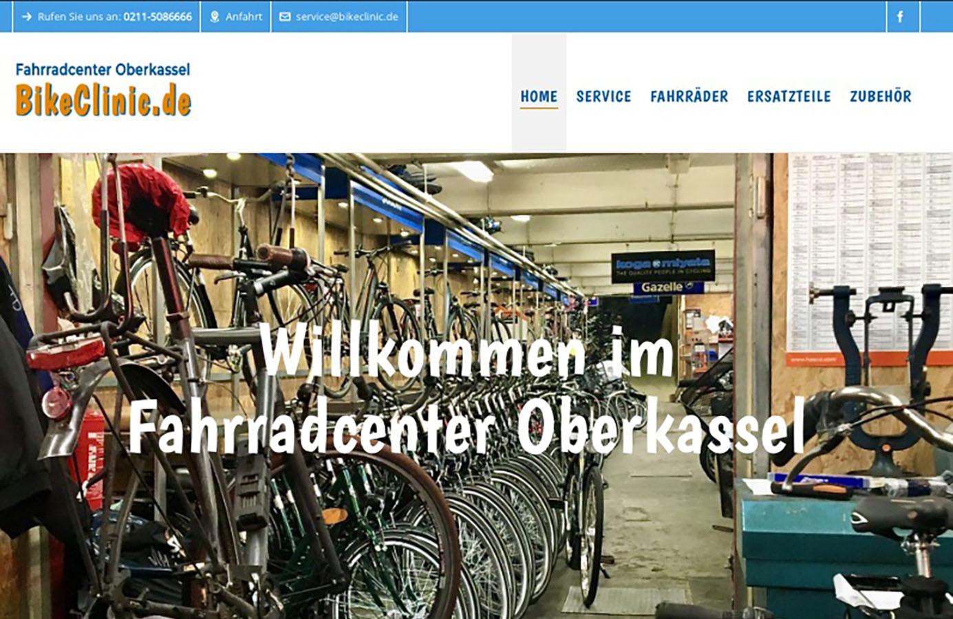 Bikeclinic Düsseldorf oberkassel Homepage
