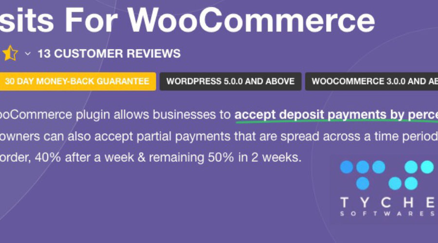 Deposit for WooComerce