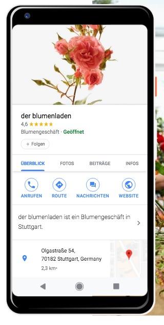 Google my Business Smartphone