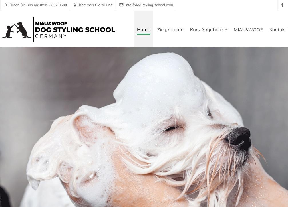 Miau&Woof Dog Styling School Homepage