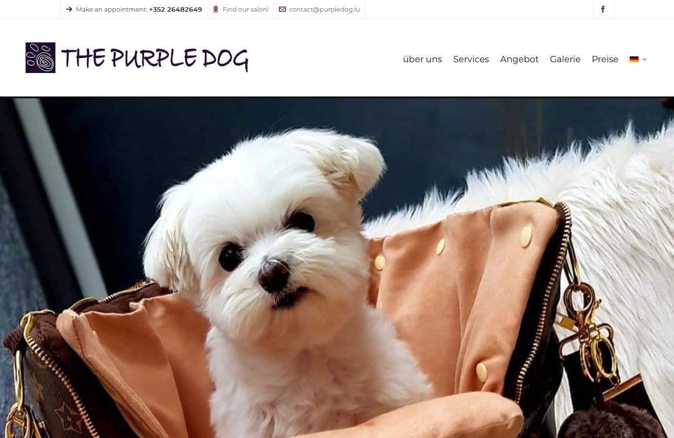 Hundesalon Webseite mit Terminbuchung
