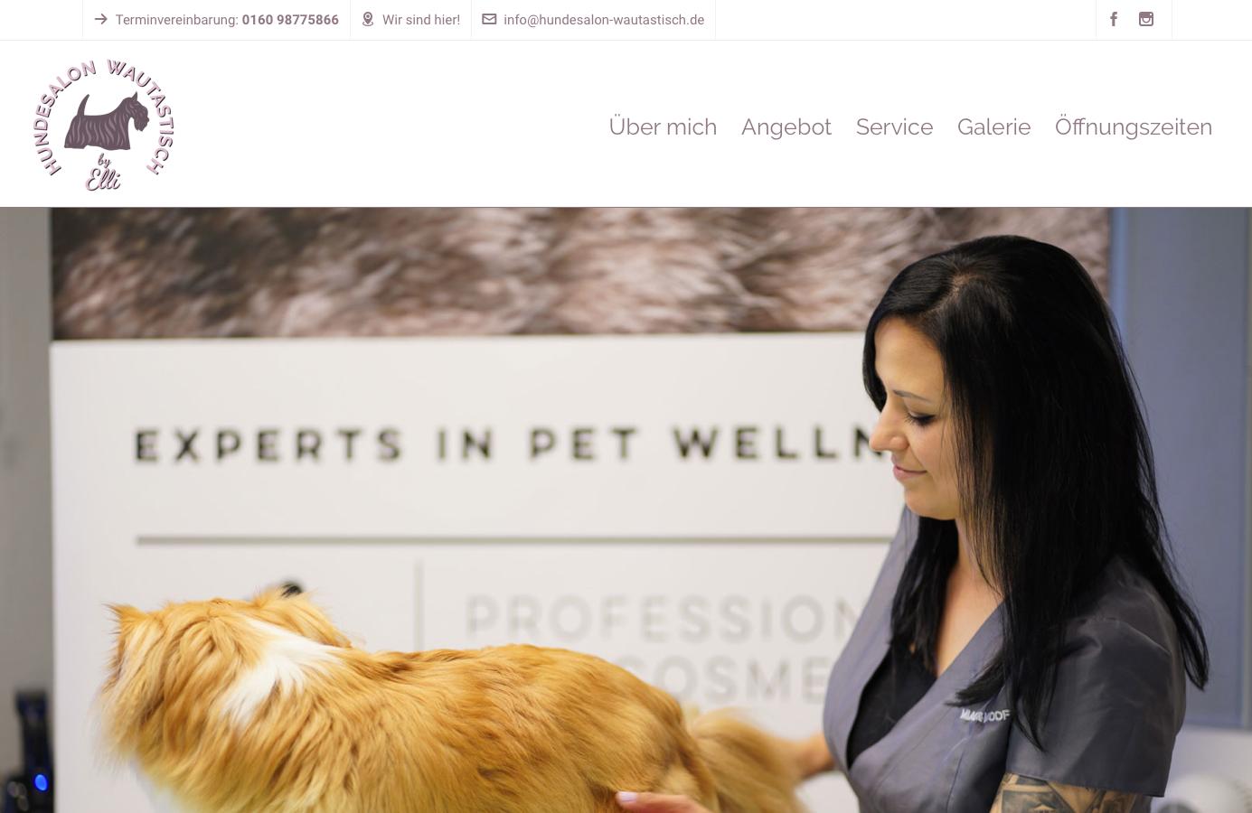 Webseite erstellen für Hundesalon
