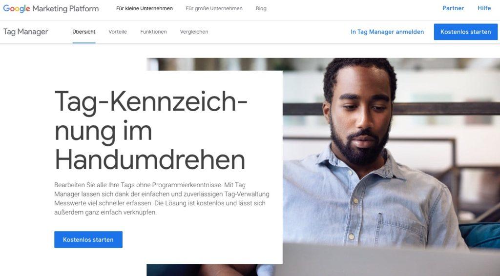 Google Dienst Tagmanager